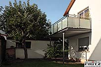 schlosserei metallbau fritz balkon balkongel nder 34. Black Bedroom Furniture Sets. Home Design Ideas