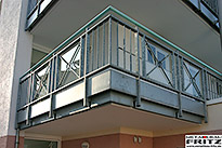 Balkon Gel�nder 25-05 - (c) by Metallbau Fritz