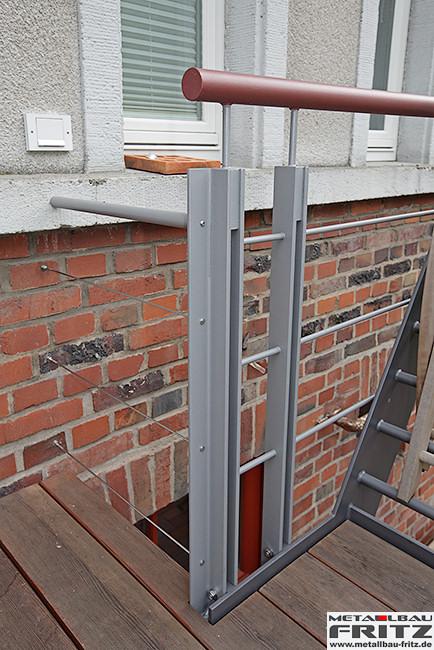 stahlbalkon balkongel nder 37 18 schlosserei metallbau fritz. Black Bedroom Furniture Sets. Home Design Ideas