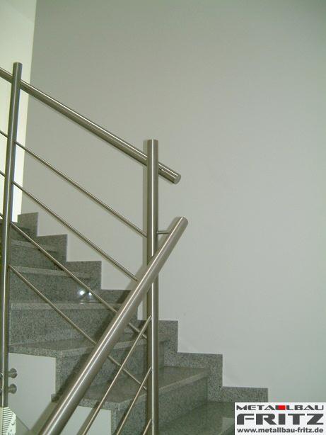edelstahl treppengel nder innen 05 03 schlosserei metallbau fritz. Black Bedroom Furniture Sets. Home Design Ideas